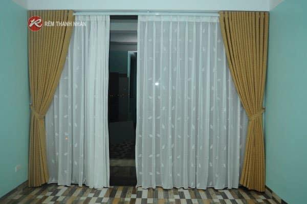 Rèm cửa 2 lớp vải thô xước