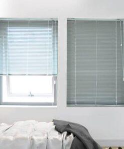 Rèm sáo nhôm ST-18 màu ghi cho phòng ngủ