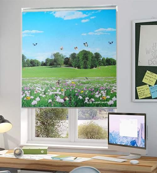 Rèm cuốn tranh phong cảnh CT-016