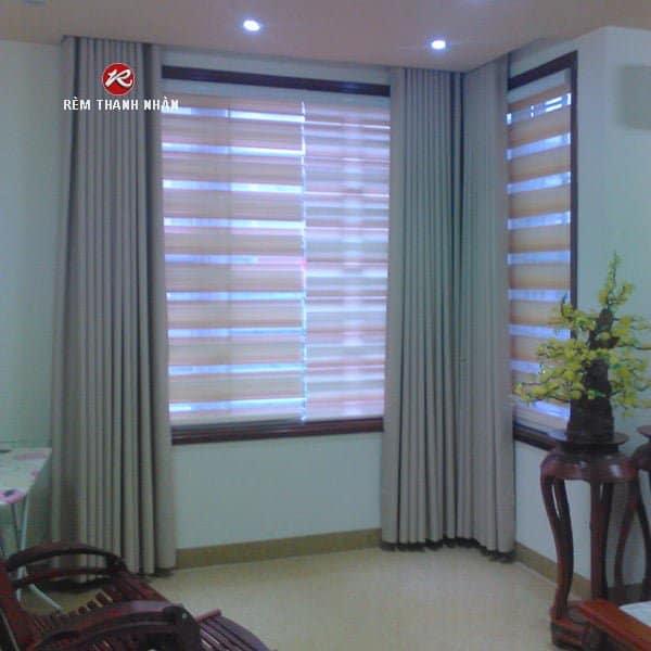 Rèm vải Blackout   Rèm vải cao su   Rèm cầu vồng Hàn Quốc đẹp giá rẻ tại Hà Đông
