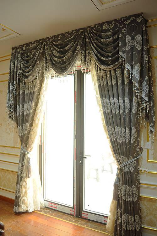 Bộ rèm vải hoa văn đẹp RV-2012-9