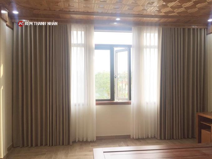 Rèm vải cản nắng RV568-5 phòng ngủ