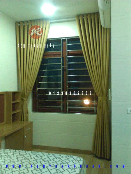 rem vai 2 lop ha noi 6 - Rèm vải cao cấp một màu Hà Nội