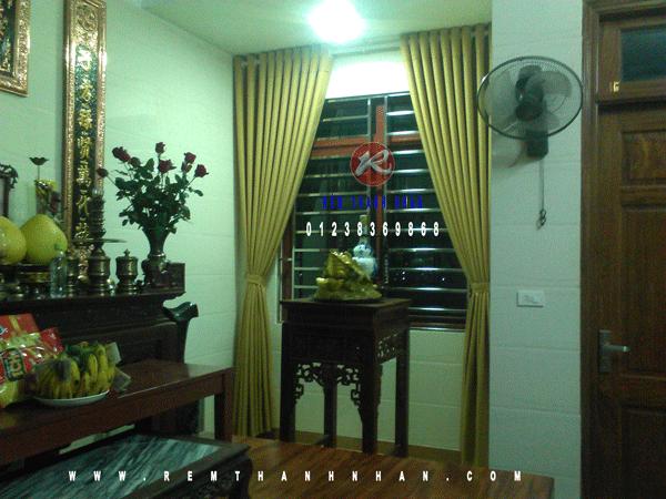 rem vai 2 lop ha noi 9 - Rèm vải cao cấp một màu Hà Nội