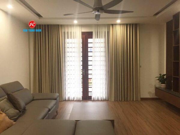 Rèm vải 2 lớp RV568-6 phòng khách, phòng ngủ đẹp