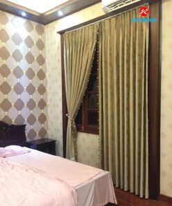 Rèm vải Gấm RV172-10 phòng ngủ