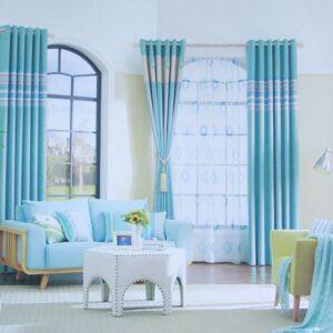 Rèm vải phòng khách hiện đại