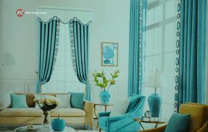 Rèm vải họa tiết - Rèm vải hoa văn họa tiết