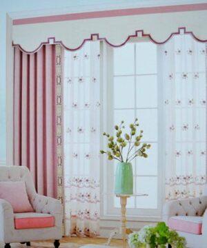 Rèm vải họa tiết đẹp mã F527-17 phòng ngủ