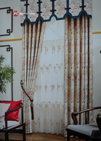 Rem vai hoa van 1 - Rèm vải hoa văn cao cấp