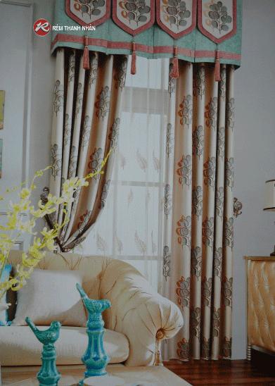 Rem vai hoa van 2 - Rèm vải hoa văn cao cấp