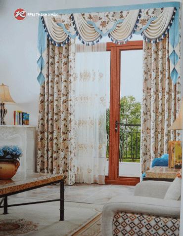 Rèm vải hoa văn cao cấp - Rèm Thanh Nhàn