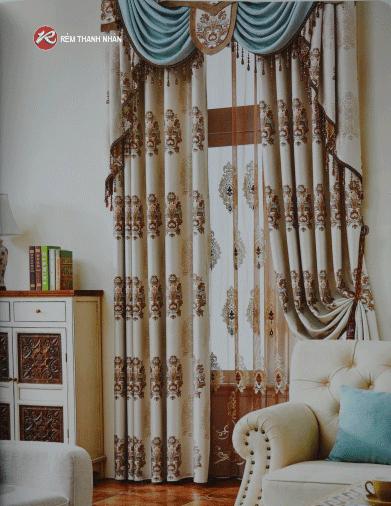 Rem vai hoa van hoa tiet - Rèm vải hoa văn cao cấp