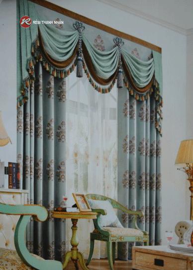 Rem vai hoa van tinh te - Rèm vải hoa văn cao cấp