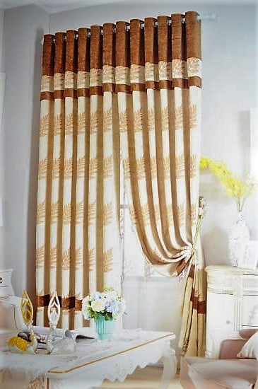 Rèm vải hoa văn họa tiết TH-1015-2