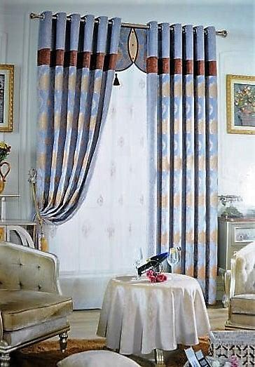 Rèm vải hoa văn cao cấp TH-1020-11