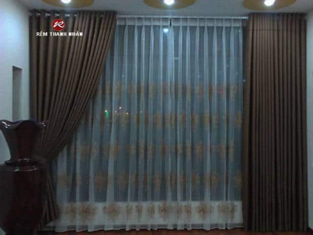 rem 2 lop dep - Lắp đặt rèm vải bố - Canvas 2 lớp đẹp nhất Hà Nội