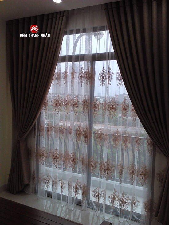rem vai bo 2 lop - Lắp đặt rèm vải bố - Canvas 2 lớp đẹp nhất Hà Nội