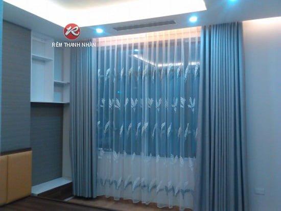 mau rem cua phong ngu mau ghi - Lựa chọn mẫu rèm cửa phòng ngủ đẹp tại Hà Nội