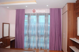 Mẫu rèm vải hoa văn chìm đẹp ở Hà Nội - Rèm Thanh Nhàn