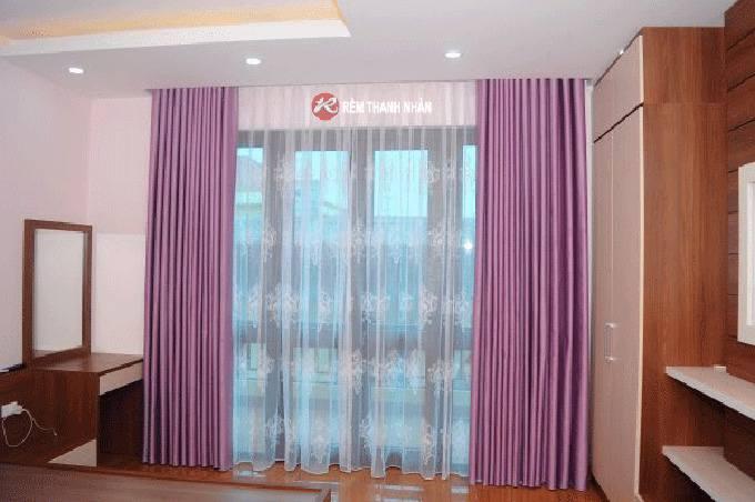 Rèm 2 lớp giá rẻ RV02-H16 cửa phòng ngủ