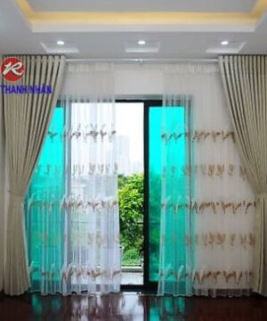Rèm cửa vải lụa silk-011