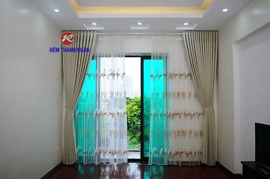 Rèm vải lụa silk-011