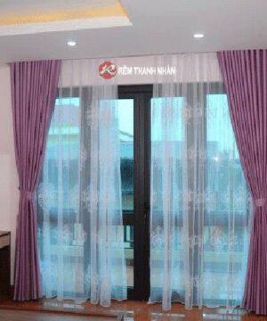 Rèm vải hoa văn chìm RV02-H16 cho cửa phòng ngủ