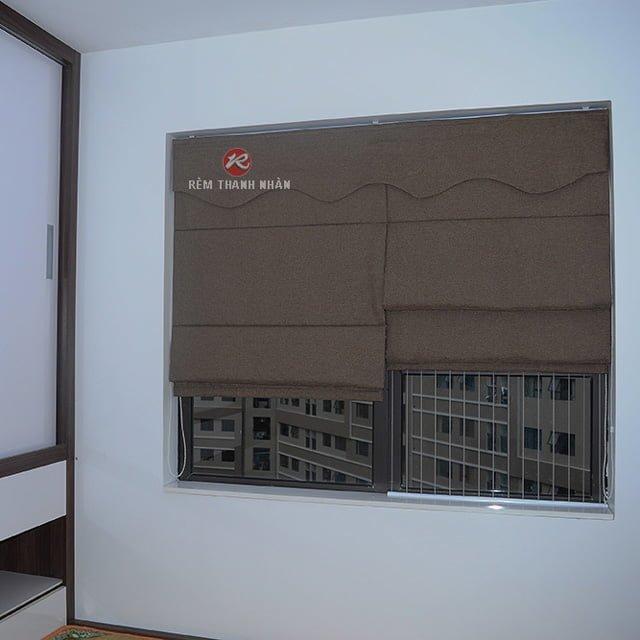 Rèm vải roman xếp lớp -rxl-018