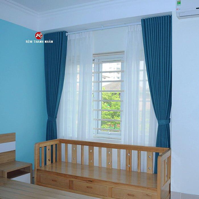 Rèm vải 2 lớp đẹp cho không gian phòng ngủ - Rèm Thanh Nhàn