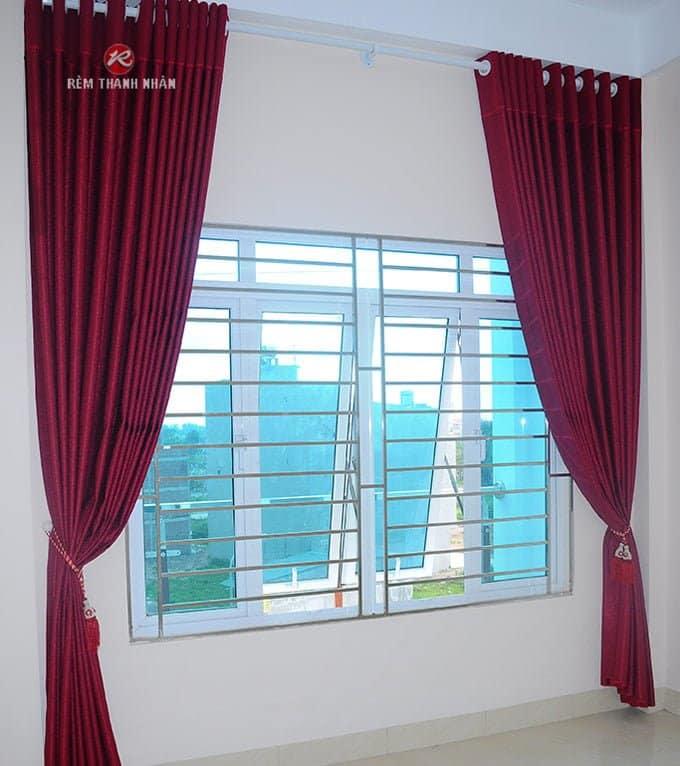 rem vai dep 1 lop su dung cho khong gian phong tho - Rèm vải đẹp 2 lớp và rèm vải đẹp 1 lớp ở Hà Nội