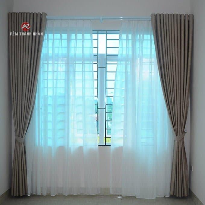 rem vai dep 2 lop su dung cho phong ngu - Rèm vải đẹp 2 lớp và rèm vải đẹp 1 lớp ở Hà Nội