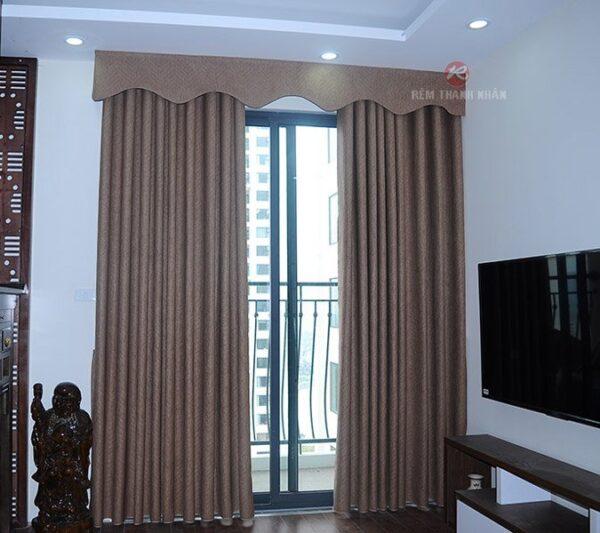 Mẫu rèm màn cửa đẹp rv-484-6, rèm vải đẹp, rèm vải chống nắng