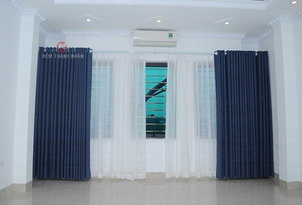 Mẫu rèm cửa phòng ngủ Hà Đông Hà Nội - rèm vải một màu