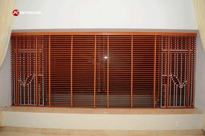 Rèm gỗ cửa sổ phòng khách STW-002