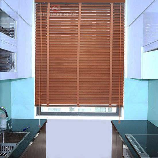 Rèm gỗ tự nhiên STW-019 che cửa sổ phòng Bếp