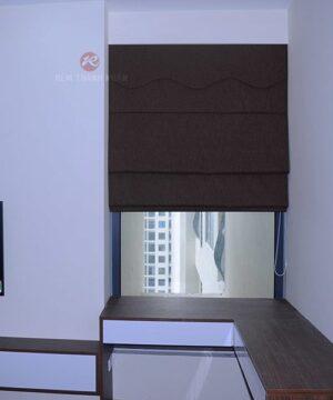 Mẫu rèm cửa roman đẹp RXL484-5 chống nắng cửa sổ nhỏ phòng ngủ