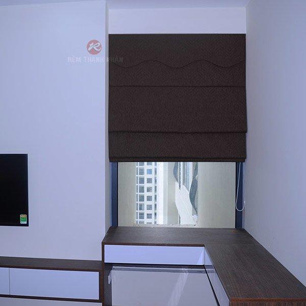 Rèm roman đẹp, rèm vải roman xếp lớp, rèm cửa phòng ngủ chung cư