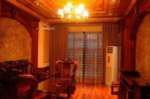 Rèm vải 2 lớp - Rèm cửa phòng khách đẹp Hà Nội