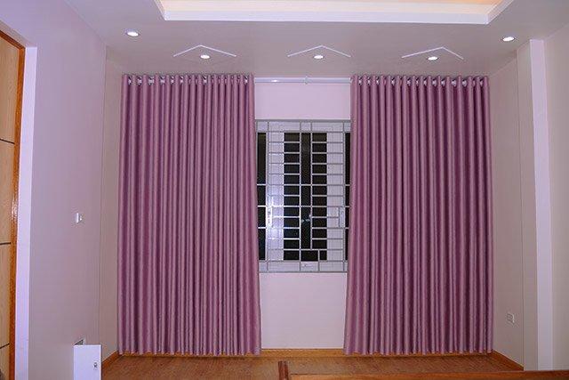 rem phong ngu - Mẫu rèm vải hoa văn chìm cho rèm phòng ngủ
