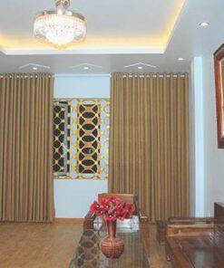 Rèm vải một màu có vân RV484-3 sử dụng cho rèm phòng khách Hà Nội