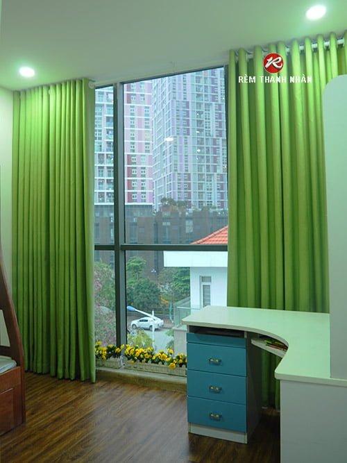 Rèm vải thô mịn một màu giá rẻ tại Hà Nội