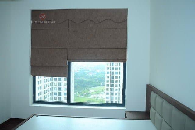 Rèm roman kẹp 2 lớp sử dụng cho rèm cửa sổ phòng ngủ chung cư