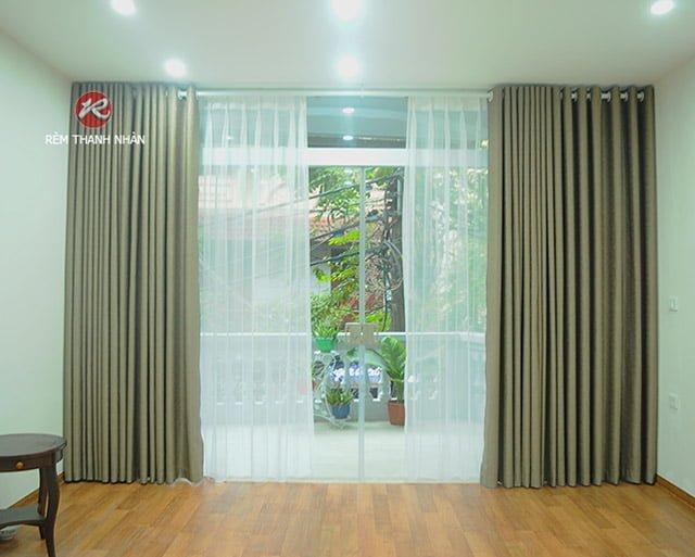 Rèm vải Gấm cao cấp - Rèm vải polyester tại quận Hoàn Kiếm Hà Nội