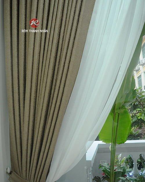 rem vai polyester 2 lop - Rèm vải Gấm cao cấp - Rèm vải polyester tại quận Hoàn Kiếm Hà Nội