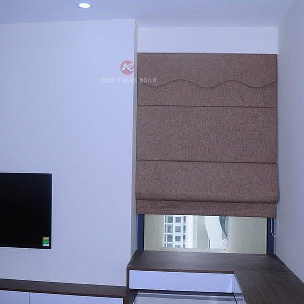 Rèm roman kẹp sử dụng cho rèm cửa sổ phòng ngủ nhỏ