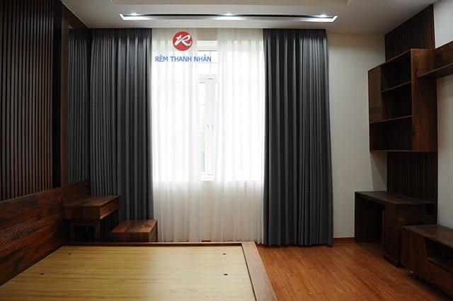 Rèm cửa tự động vải Hàn Quốc