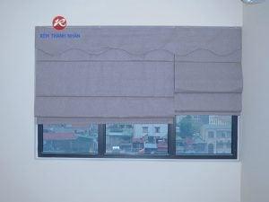 Rèm vải 1 màu - Rèm roman kẹp RM-484-12