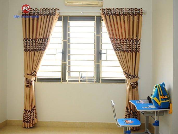 Rèm Vải Hoa Văn Cho Phòng Ngủ