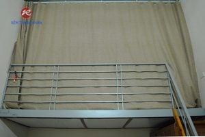 Rèm vải ngăn lạnh điều hòa phòng gác lửng